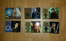 LOTR FOTR Fellowship Of The Ring Update Costume Card Set (6)