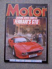 Motor (1 June 1985) Ferrari GTO, Daytona, Granada, Bentley Turbo R, Metro 6R4