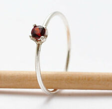 14k white gold Garnet Rings: Simple Jewelry, Gift Ideas for Wife