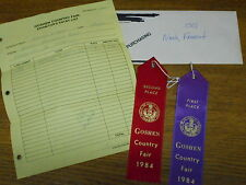 1984 Goshen Country Fair PA Exhibition Entries 1st Place Peppers & 2nd Cucumbers