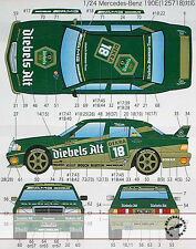 STUDIO 27 MERCEDES 190E DIEBELS ALT #17 #18 DTM (1992) DECAL for 1/24 FUJIMI