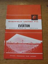 22/02/1964 Sheffield United v Everton [Autografiado en línea-ups por Michael Jones]