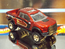 2017 HOT WHEELS SPECIAL CUSTOM '17 FORD F-150 RAPTOR in RED with Real Riders.
