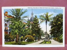 Postcard FL Tampa Tampa Bay Hotel Tropical Foliage in Front of Hotel