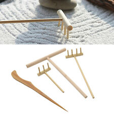 Traditional Zen Garden Rake Tool Set Bamboo Buddhism Good Luck Success Fengshui