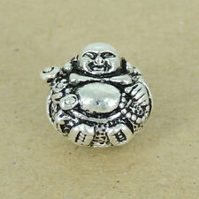 925 Stamp Sterling Silver Buddha Bead Vintage Meditation Buddhism WSP389