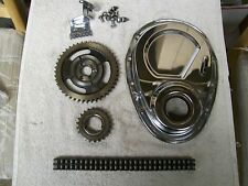 Small Block Chevy Double Roller Timing Chain Set w/Chrome Cover Tab & Bolts