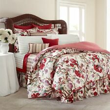 4pc RALPH LAUREN CHAPS Sarah QUEEN Comforter Bedding Set RED GREEN PURPLE NWT