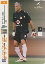 N°012 NIKOPOLIDIS # GREECE OLYMPIACOS.FC CARD CARTE PANINI CHAMPIONS LEAGUE 2008