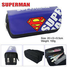 DC Comics Superman Makeup Cosmetic Brush Travel Bag Case Pen Pencil Pouch Purse
