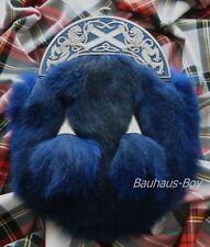 Faldita Vestido Sporran León Rampante De Esmalte Diseño & Blue Artic Fox escocés hecho