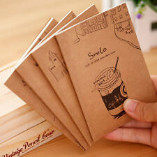 2Pcs Vintage Diary Notebook Copybook Blank Pages Paper Journal Notepad Memo Cute