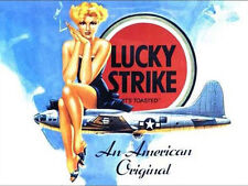 Lucky Strike Cigarettes, Pin-up Girl, B-17 WW2 US Aircraft Novelty Fridge Magnet