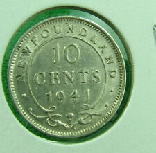 1941 Newfoundland 10 cent  very nice grade