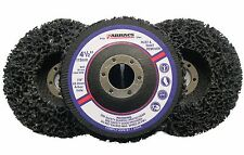 """3 x Abracs Poly Discs 115mm Rust & Paint Removal for 4 1/2"""" Angle Grinder"""
