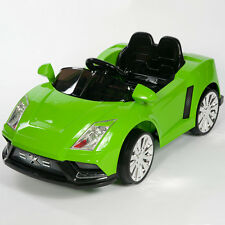 Racer X Green 12V Kids Ride On Car Electric Power Wheels MP3 Remote Control RC