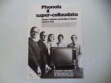 advertising Pubblicità 1971 TELEVISORE PHONOLA