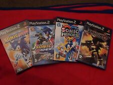 4 SONIC PS2 GAMES - HEROES - RIDERS - GEMS COLLECTION - SHADOW THE HEDGEHOG