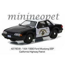 GREENLIGHT 42780 B 1990 FORD MUSTANG SSP CALIFORNIA HIGHWAY PATROL CAR 1/64 CHP