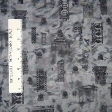 Travel Fabric - Antiquity Column Building Architecture Gray Northcott OOP YARD