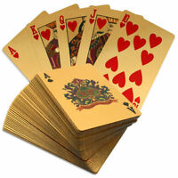 24K GOLD PLATED PLAYING CARDS US DOLLAR FULL POKER DECK 99.9% PURE GIFT
