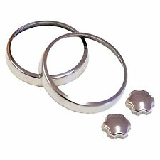 Austin Mini Air Vent Rings - AVR1 - Pair / Stainless Steel - Mountney Classic