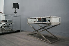 Mirrored Coffee Table Stainless Steel Leather Trims New Lowest Price !!!