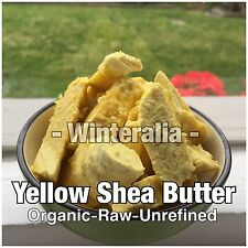 100G - Organic Raw Unrefined Yellow Shea Butter - A Grade