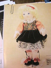 SIGGY'S HOLIDAY OUTFIT *RARE OOP whimsical cloth art doll clothing pattern 1997