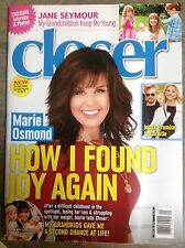 MARIE OSMOND Closer Magazine May 2016 Jane Seymour MARILYN MONROE