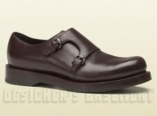 GUCCI mens 10* brown HARRISON double MONK loafers PLATFORM shoes NIB Authen $890
