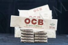 10 PACKS AUTHENTIC OCB ORGANIC HEMP KING SIZE SLIM PAPERS NATURAL UNBLEACHED