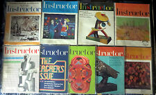 INSTRUCTOR MAGAZINE Lot #3 - 9 diff from 1971 - Vintage ads child education info