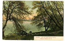 Stony Point NY - SITE OF OLD KINGS FERRY ON HUDSON RIVER - Postcard