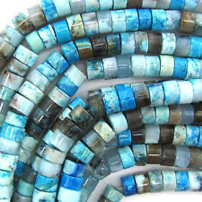 """8mm blue crazy lace agate heishi beads 15.5"""" strand"""