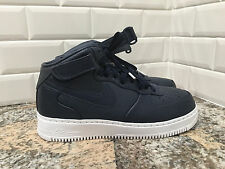 NIKE LAB AIR FORCE 1 AF1 MID OBSIDIAN WHITE LEATHER SHOES 819677-400 SZ 10.5 MEN