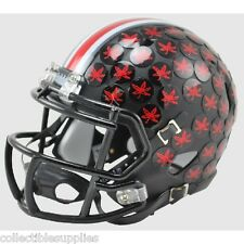 NEW OHIO STATE BUCKEYES SPECIAL BLACK SPEED RIDDELL MINI FOOTBALL HELMET