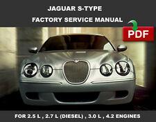 JAGUAR S TYPE 2004 2005 2006 2007 2008 FACTORY SERVICE REPAIR WORKSHOP MANUAL