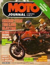 MOTO JOURNAL  495 SUZUKI GSX 1100 GPZ  Injection KAWASAKI Z750 E KRAMER 250 1981