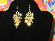 LANE BRYANT NWT $13 women's earrings gold cluster disco party