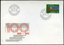 Switzerland 1975 Metre & Krypton Line FDC First Day Cover #C20088