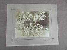 PHOTO ANCIENNE ATTELAGE CHARRUE CHEVAL une famille a L ILE DE JERSEY  vers 1900