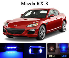 Ultra Blue Vanity / Sun visor LED light Bulbs for Mazda RX-8 RX8 (4 Pcs)
