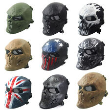 Skull Skeleton CS Mask TacticalAirsoft Paintball Full Face  Military Halloween