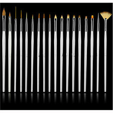 15pcs/set Nail Art UV Gel Design Brush Set Painting Pen Manicure Tips Tools UK