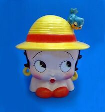 Cookie Jar - BETTY BOOP with Blue Bird on Hat Ceramic Cookie Jar Year 2000  NIB