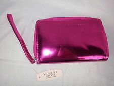Victoria's Secret Hot Pink Metallic Wallet Limited Edition Patent Leather NWT
