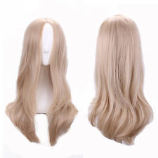 2016 Hot Women Straight Long Sexy Light Blonde Cosplay Natural Hair Full Wigs
