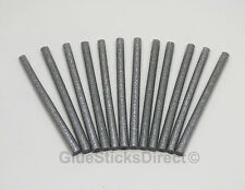 "Silver Glitter Glue Sticks mini X 4"" 12 sticks"