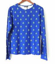 Tommy Bahama Jersey Top Royal Blue Pull Over Long Sleeve Size M/L
